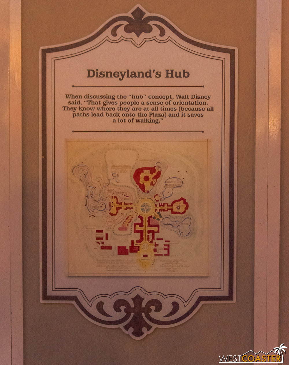 Signage here explains a bit about park design as Walt intend too.