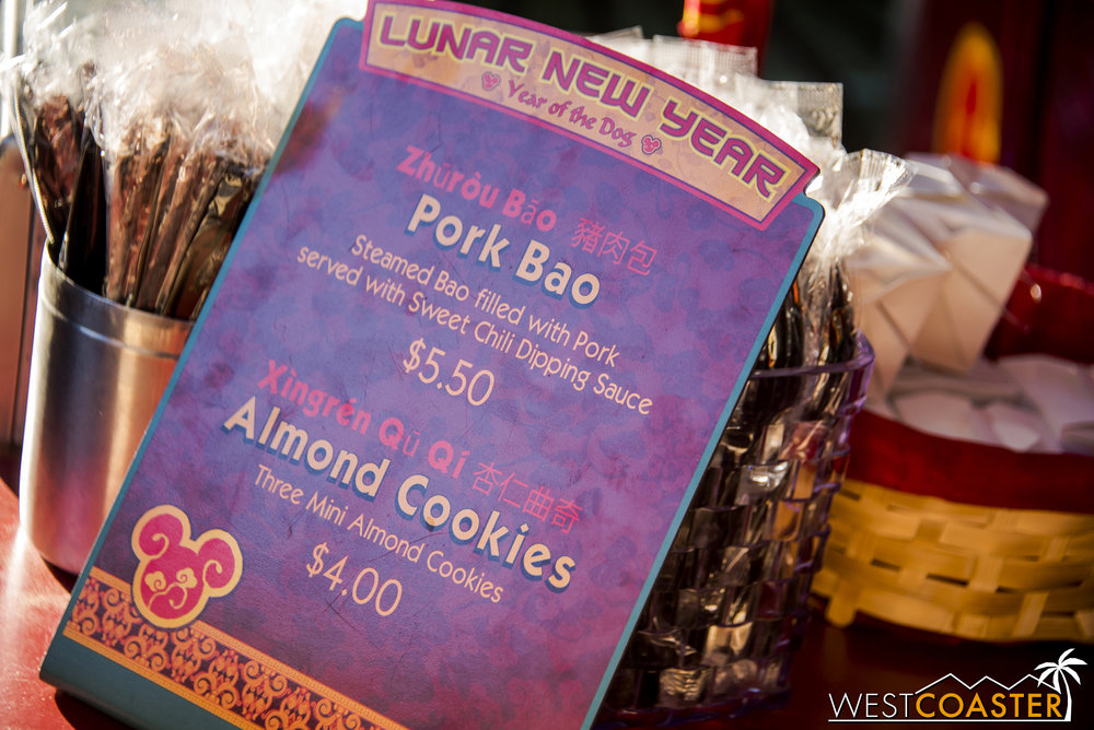 The Pork Bao and Almond Cookies are back too.