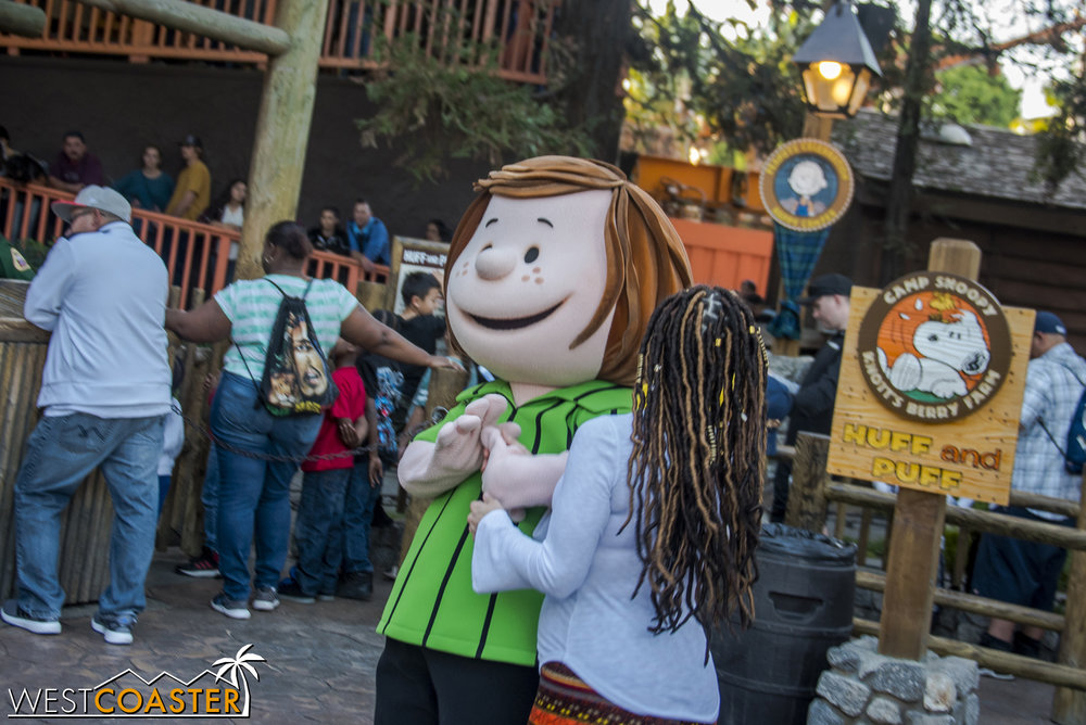 Guests can meet an assortment of Peanuts characters, from the popular folks to even secondary characters like Peppermint Patty.