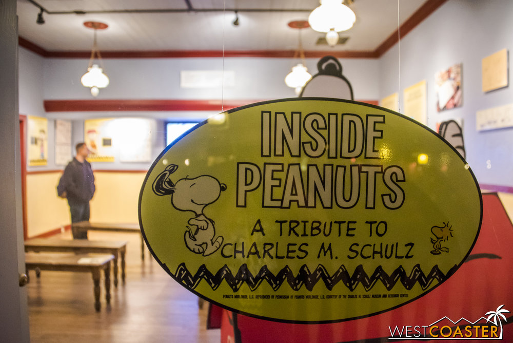 This building has taken on many features over the past few years, and right now, it's got an exhibit dedicated to Peanuts and Charles M. Schulz.