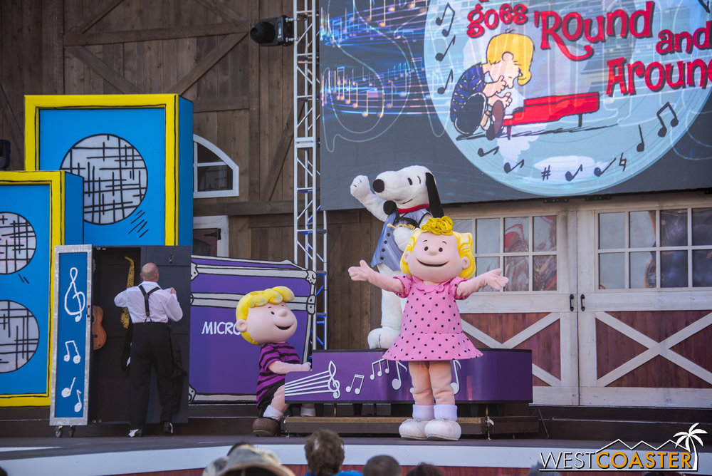 Schroeder, Sally Brown, and Snoopy jam through a variety of genres in this Calico Stage show.