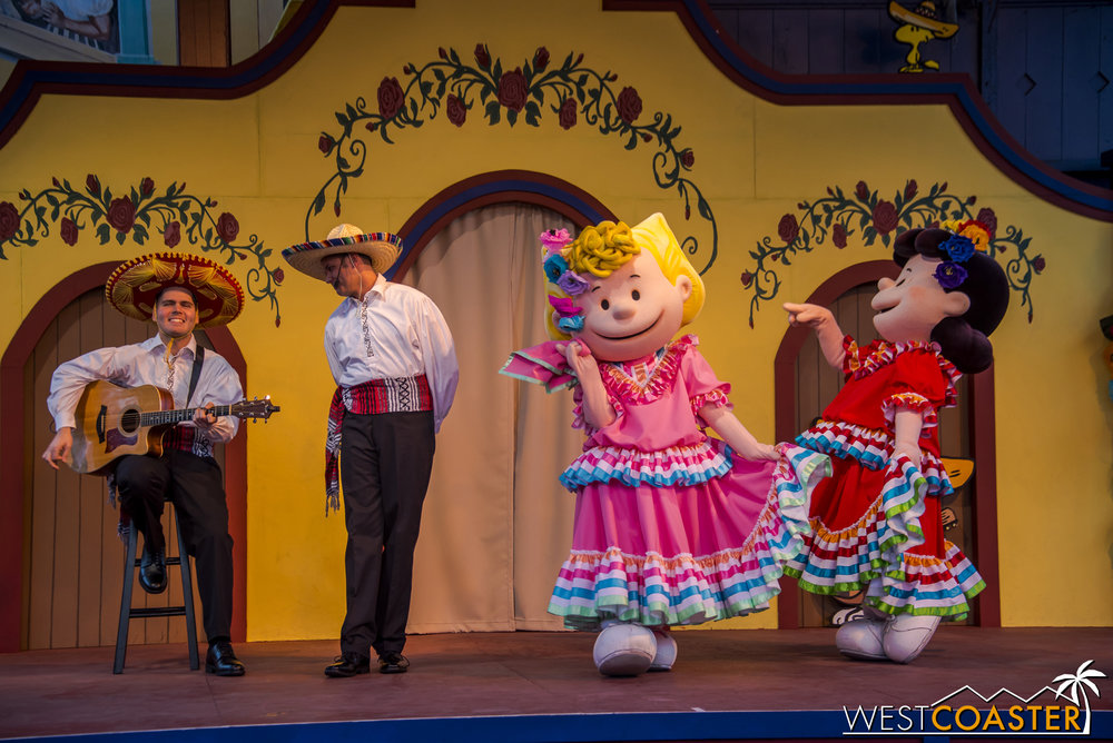 Sally joins a few minutes later, and the two do a slightly different folklorico dance from Guerrero.