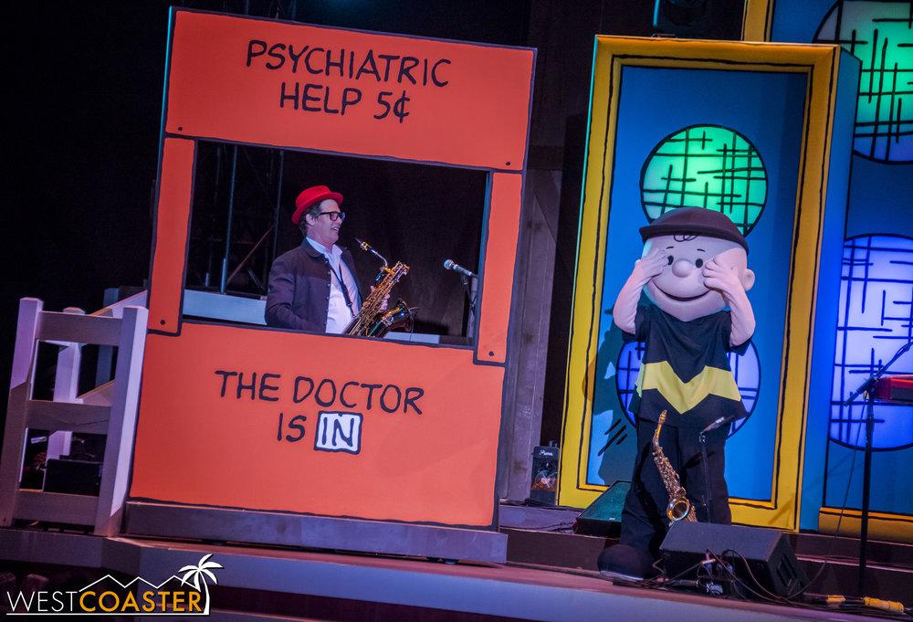 Charlie Brown seeks professional shrink advice.