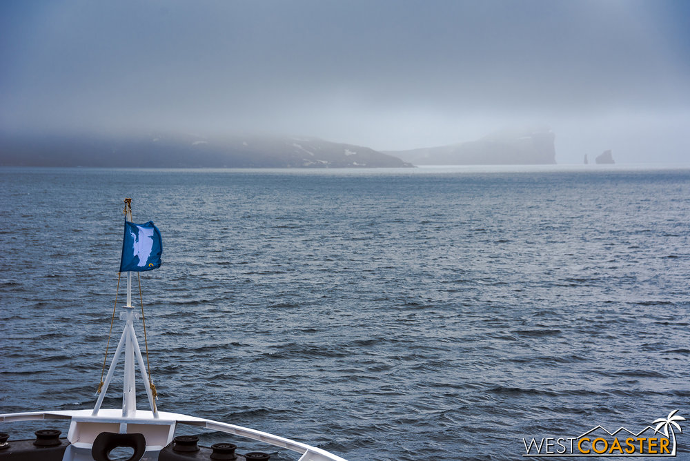 Cruising toward Deception Island.