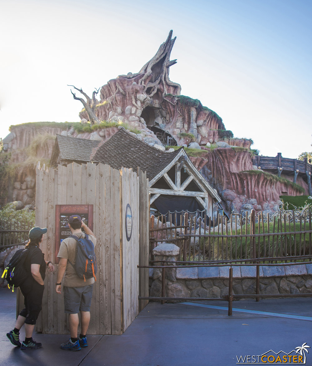Splash Mountain is down for its annual big refurb.