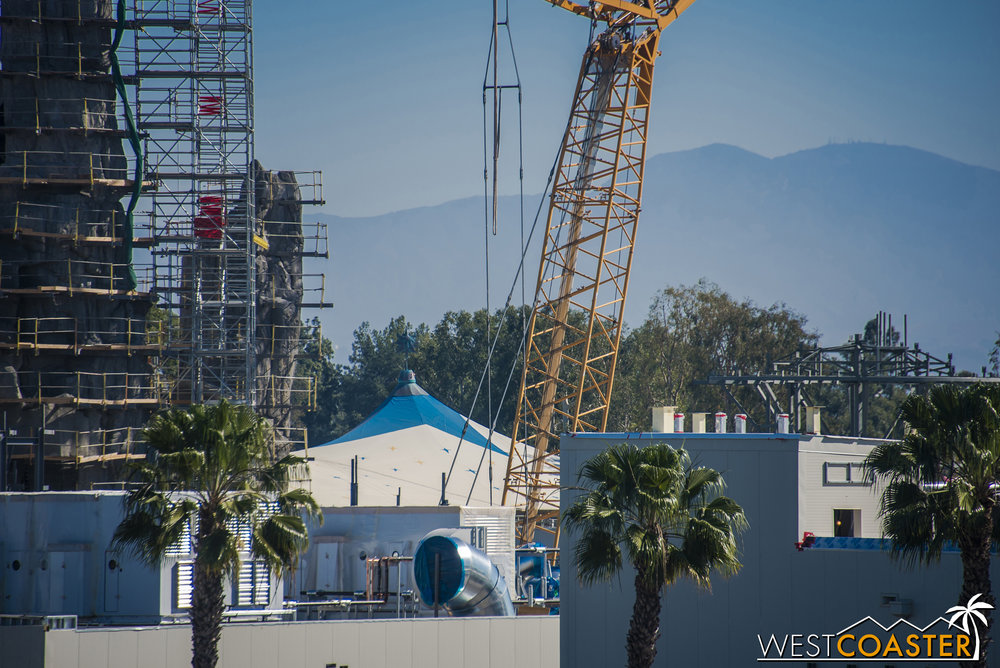 New steel seems to be constantly being erected on the rooftop level.