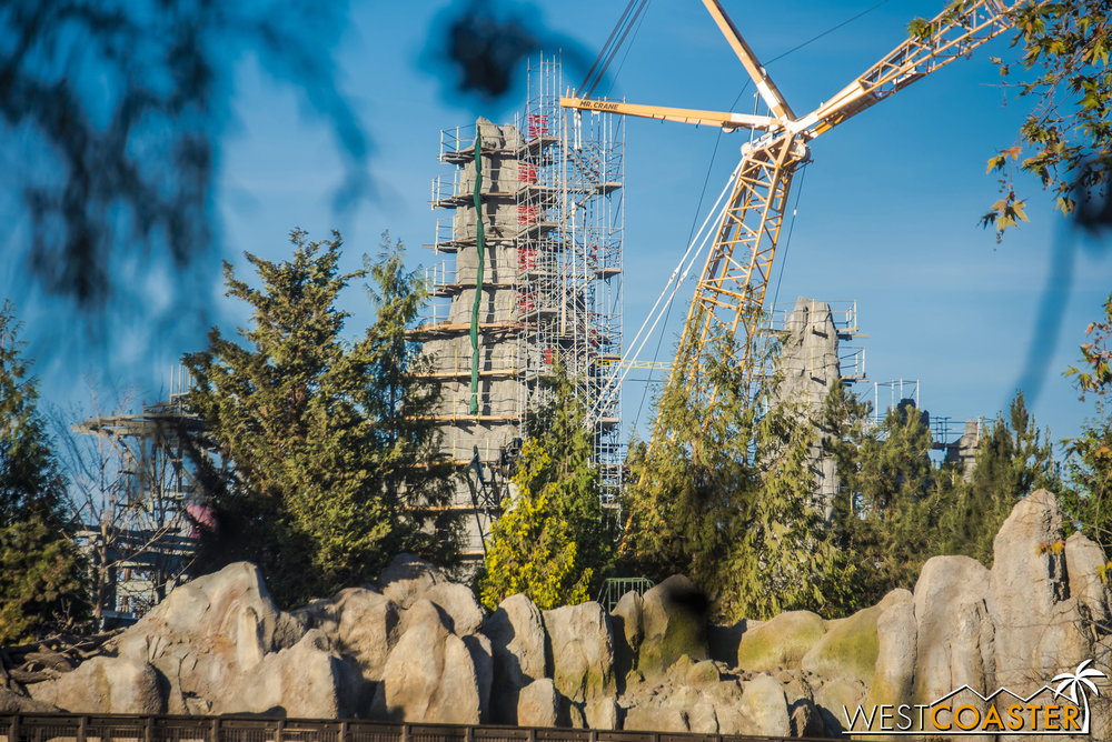 "I would imagine that a lot of this scaffolding may come down well before ""Star Wars"" Land actually finishes, giving us completed sightlines and offering new and exciting photographic opportunities before the opening of Galaxy's Edge!"