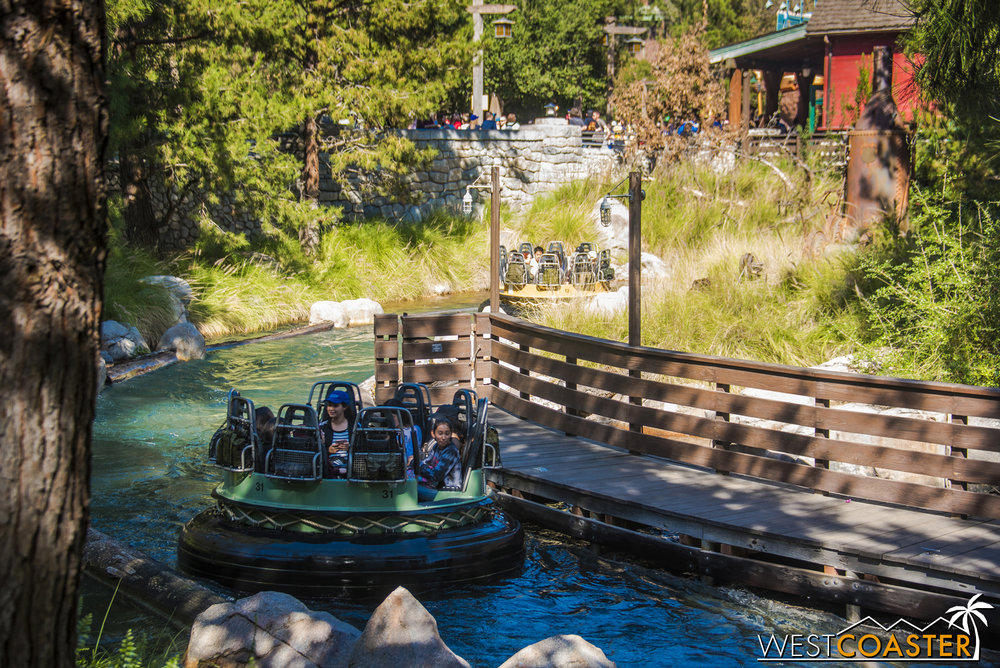 In fact, it's the only real water ride open at the Resort right now (excluding the Rivers of America attractions).