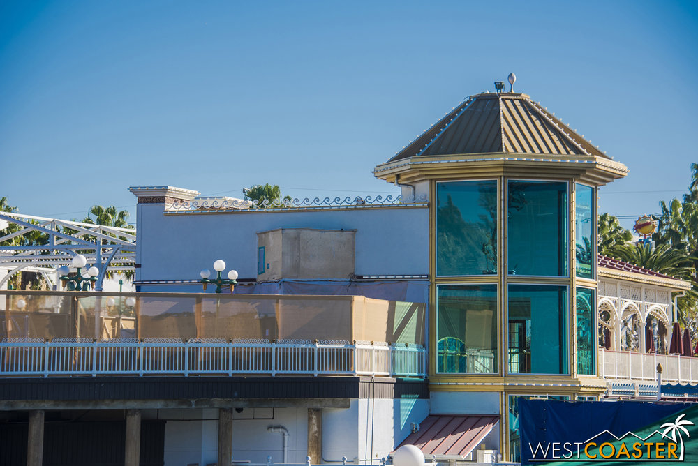 Ariel's Grotto is turning into a Toy Story themed establishment, so there's no place for seashell roof anymore.