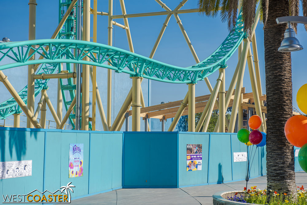 It's all pretty compact, but there's definitely a lot more track over the former footprint of Boomerang.