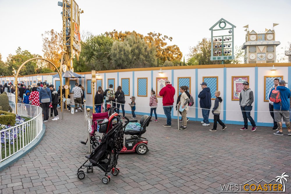 This will be done before the Pixar Spray Parade moves over to Disneyland in April.