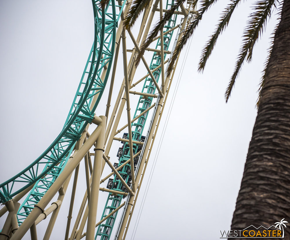 Yes, the roller coaster is operational, even if everything else is not yet complete.