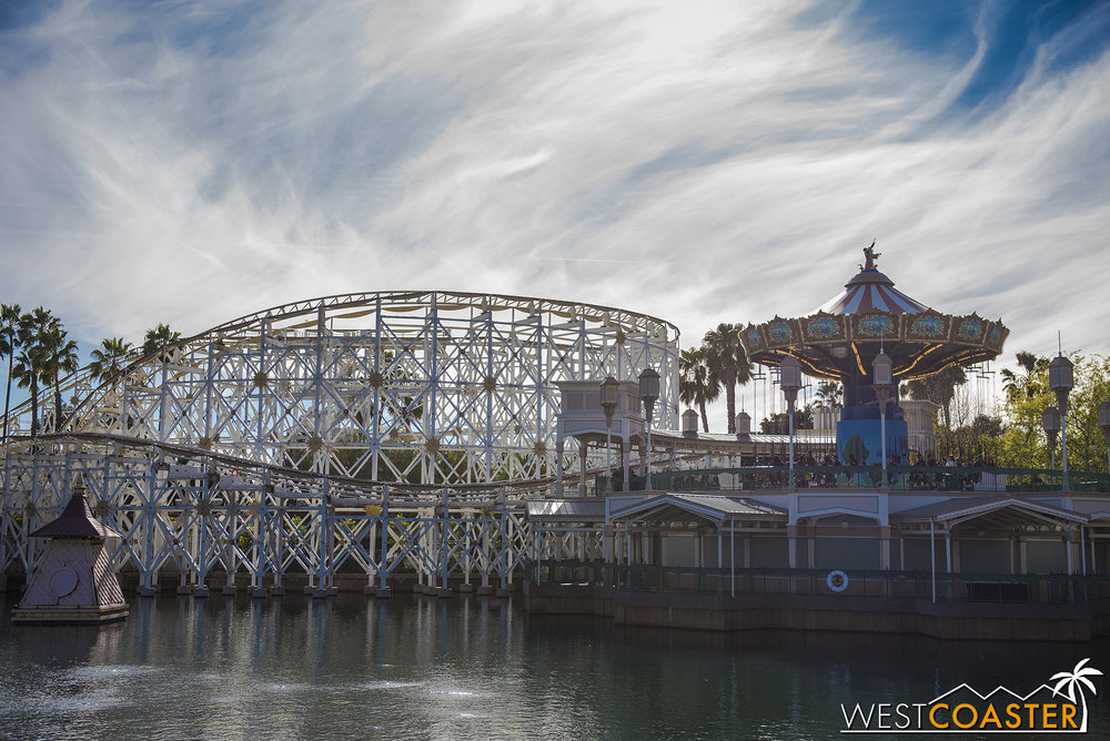 Here are daytime photos of Pixar Pier, so you can actually see what's going on.