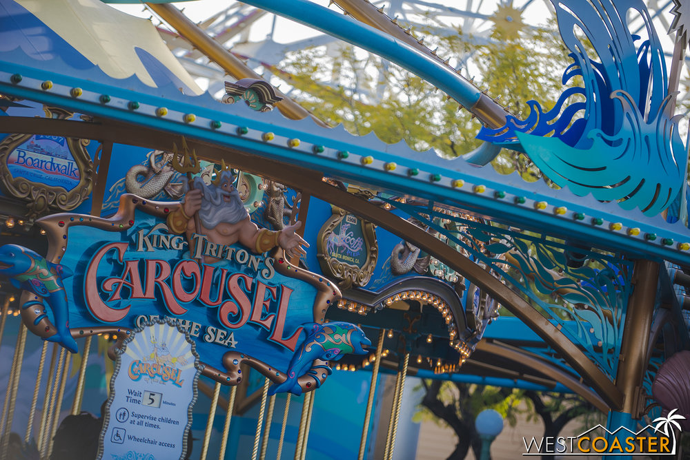 King Triton's Carousel... still open... for now...