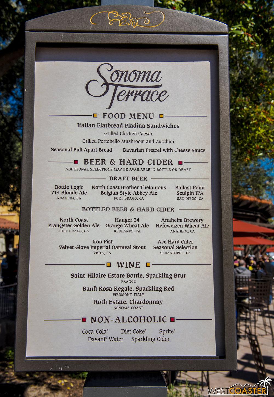 See? A food menu.