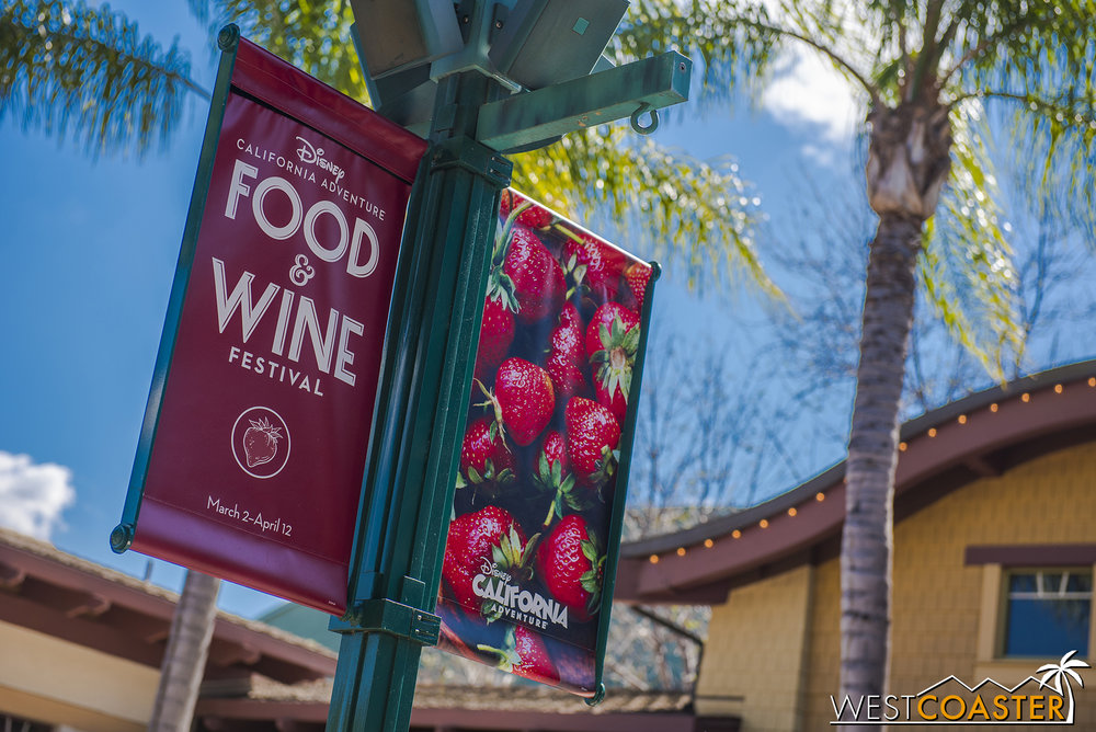 Banners are all over the Resort, advertising this year's Food & WIne Festival.