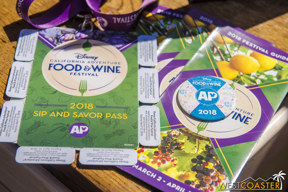The Sip and Savor Pass is back and a great value for AP holders.  Get it also in the back corner of Hollywood Land, to the right of Monsters, Inc.