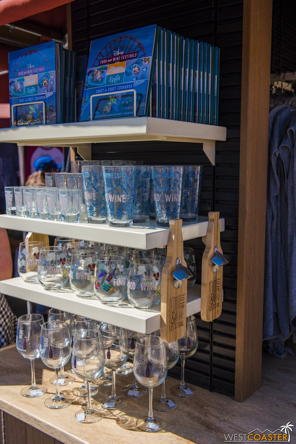 More Food & Wine merchandise along the Parade Corridor.