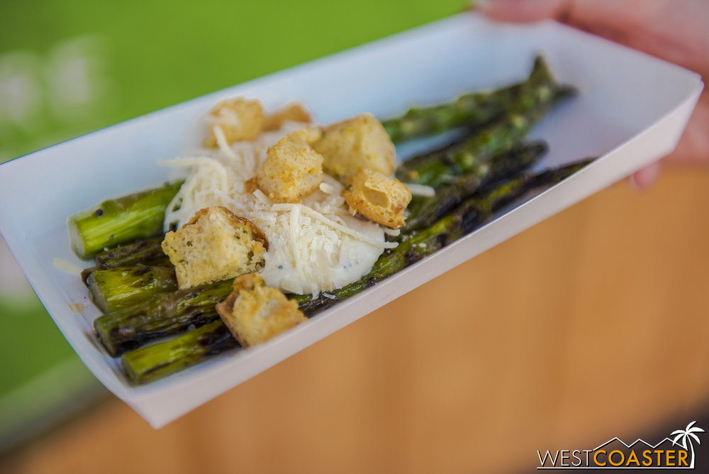 Grilled Asparagus Caesar Salad @ Eat Your Greens