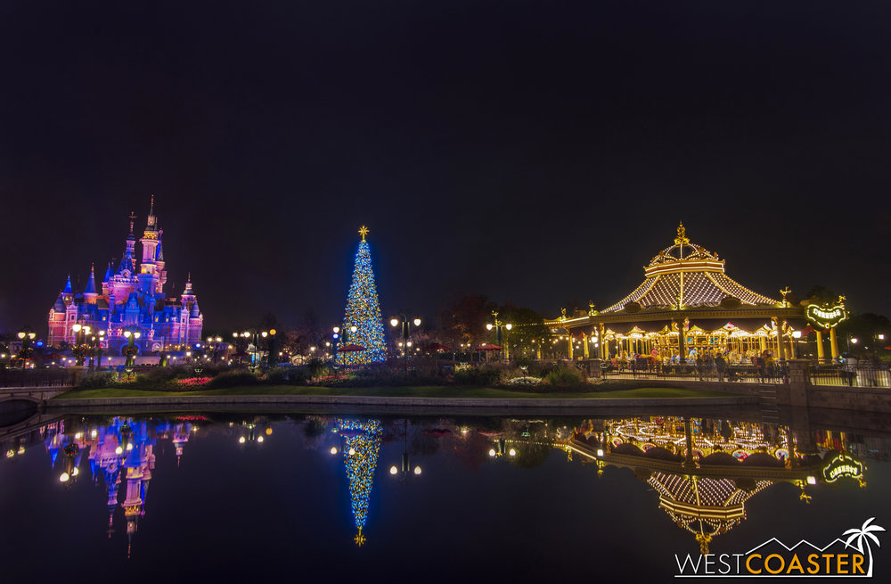 Holiday reflections in the Gardens of Imagination.