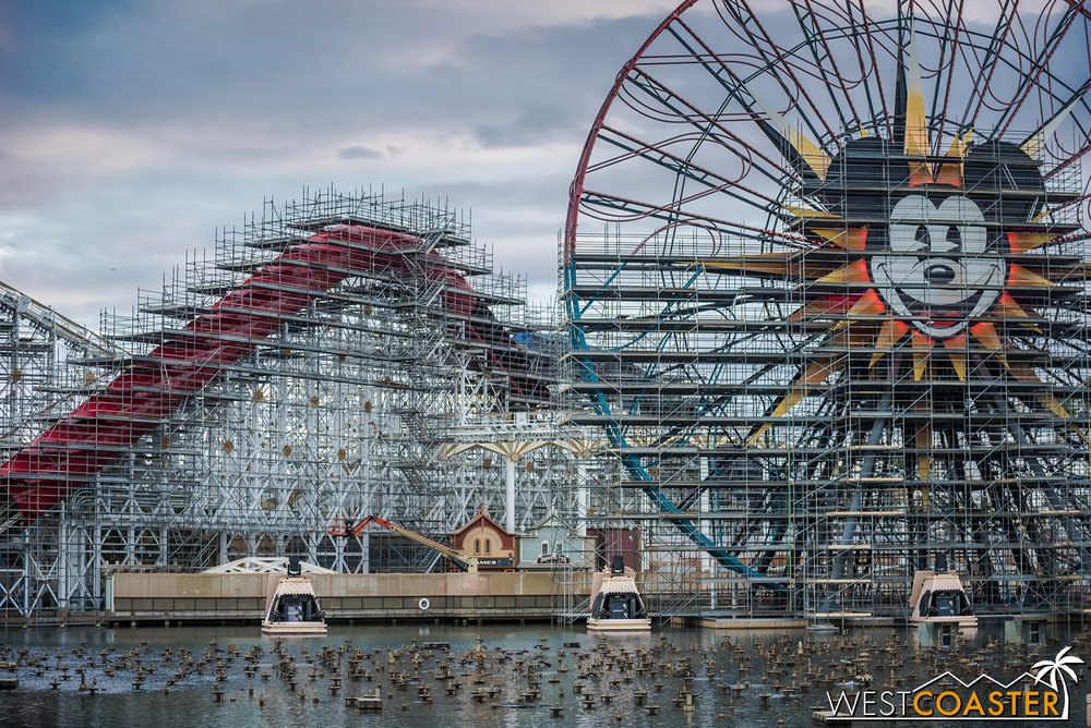 "The first of the old California Screamin' ""scream tunnels"" has been fully enclosed."