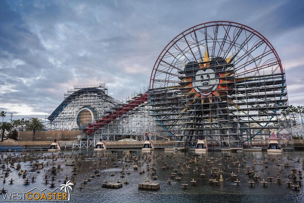 Mickey's Fun Wheel is getting repainted too.
