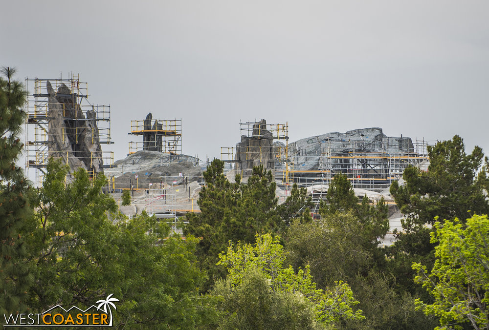 That these rocks are visible across the skyline is another testament to the scale of the project.