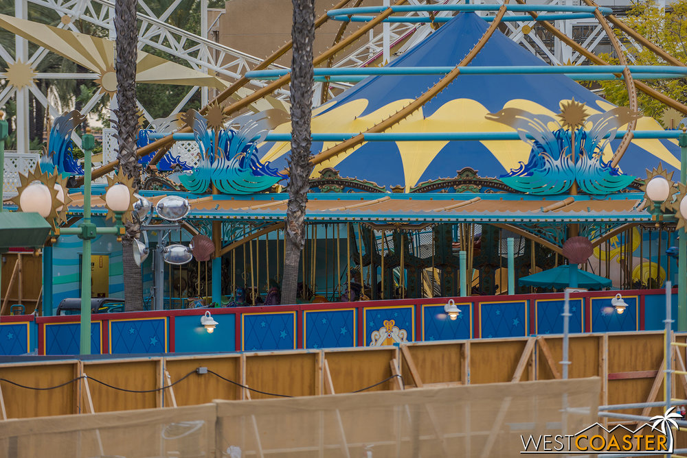 No apparent rush on changing this over to Jessie's Critter Carousel, yet.
