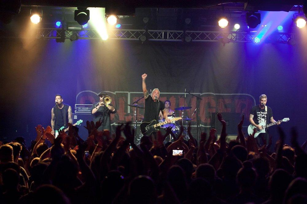 Festival co-founder John Feldmann and his band, Goldfinger.Photo courtesy of Back to the Beach Festival.