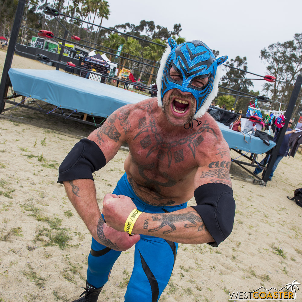 Have you ever met an Australian luchador?  Well, here's one.