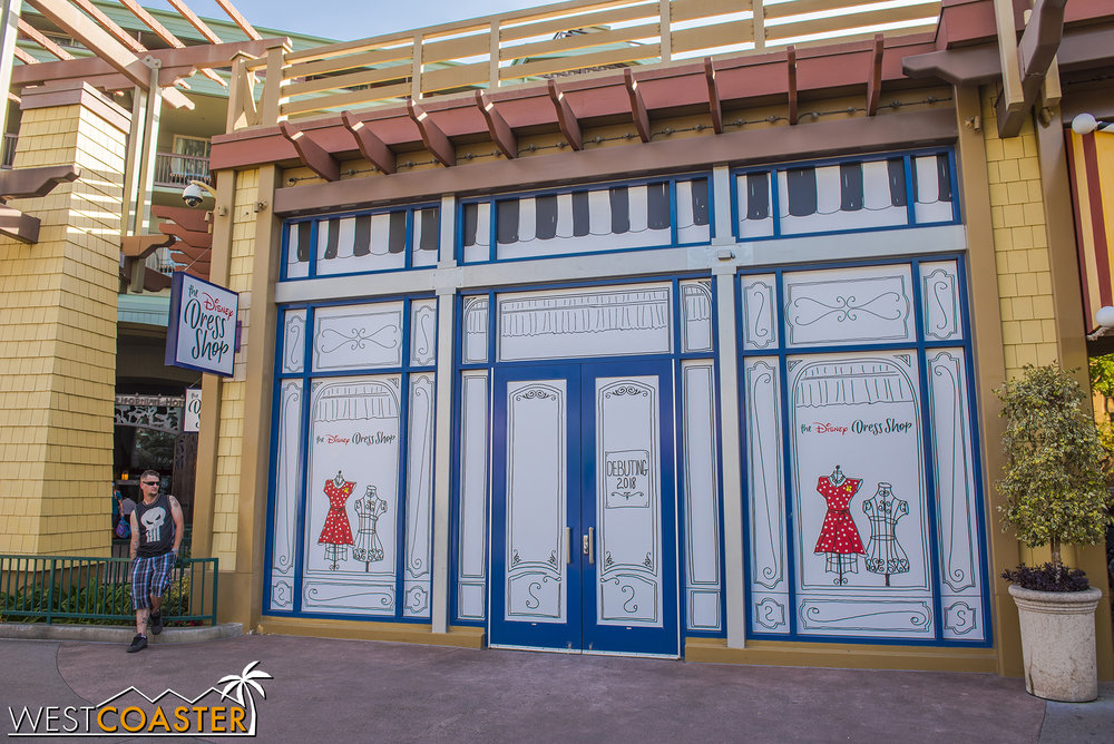 It's moving over here, to the former Anna and Elsa's boutique.