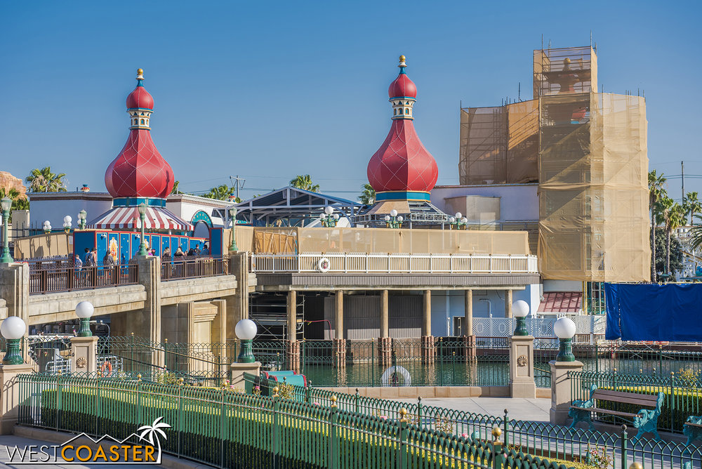 We'll close out with Pixar Pier progress.
