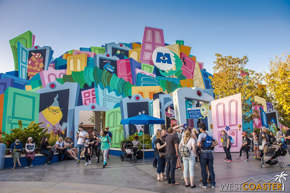 In some incredible synergy, DCA constructed Monsters Inc. just for Pixar Fest… 12 years ago!