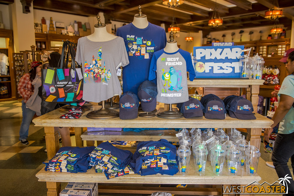 There's plenty of collectibles as part of Pixar Fest.  Here's a selection that can be found at the Buena Vista Street Five & Dime.
