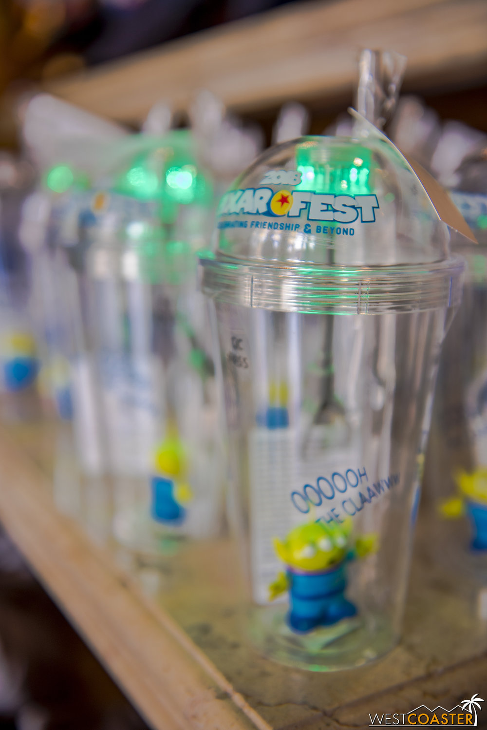 Glowing Little Green Men souvenir sippers…