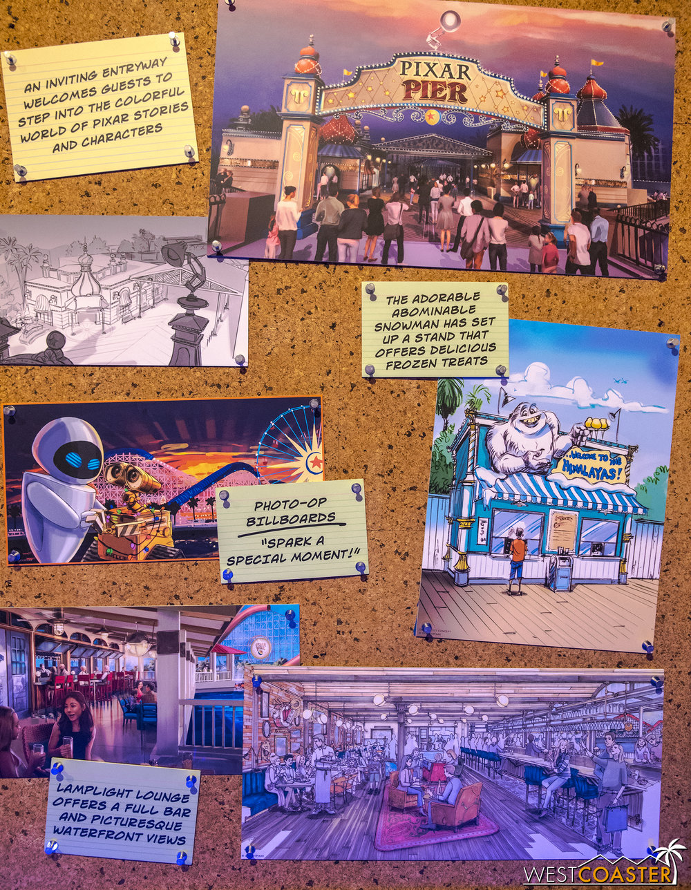 Notes tell how various theming elements contribute to the overall story being told.