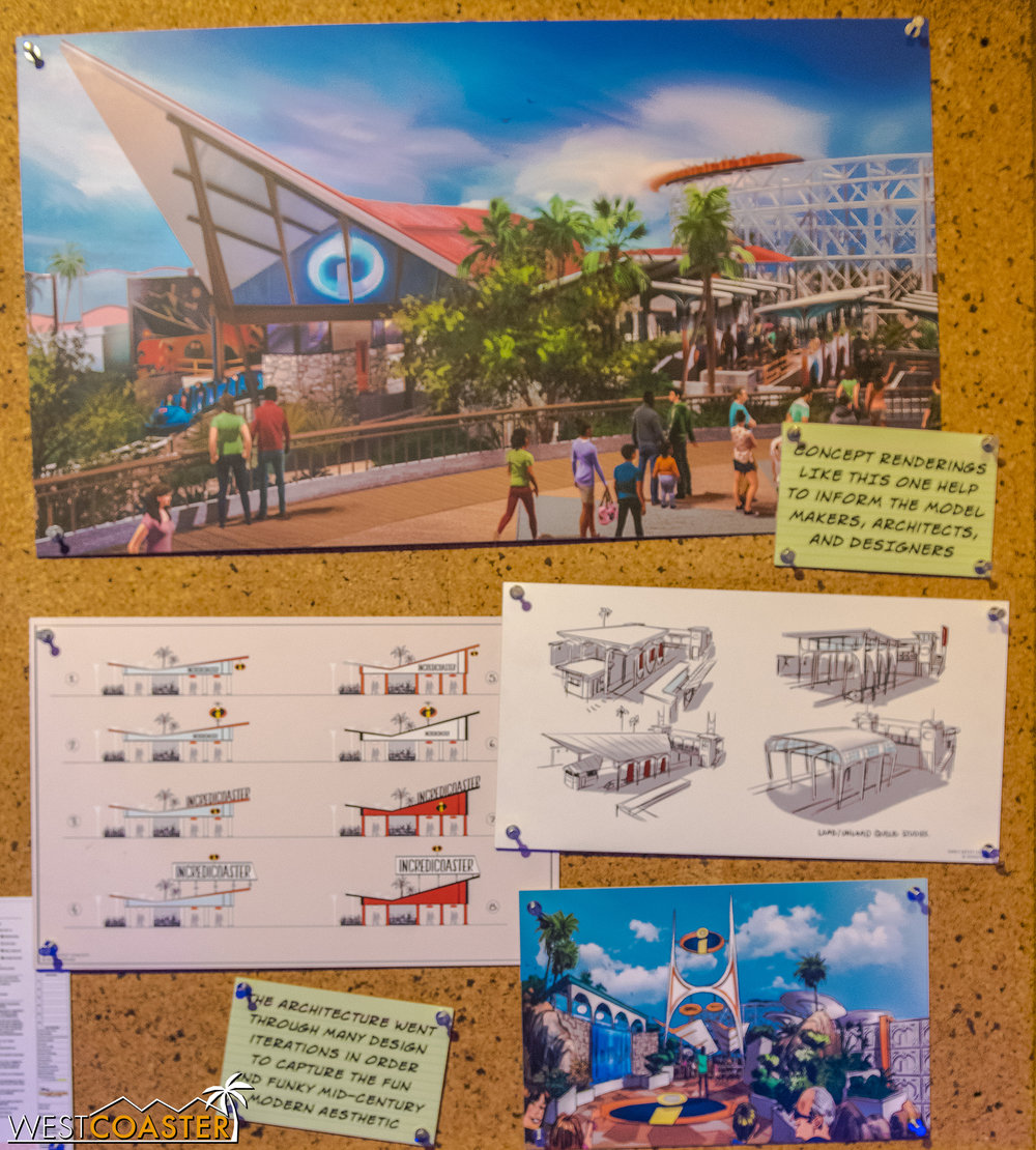 Some studies of the remodeled Incredicoaster station.