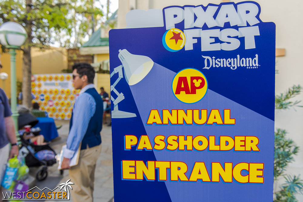 Annual Passholders have an AP Corner too, of course.