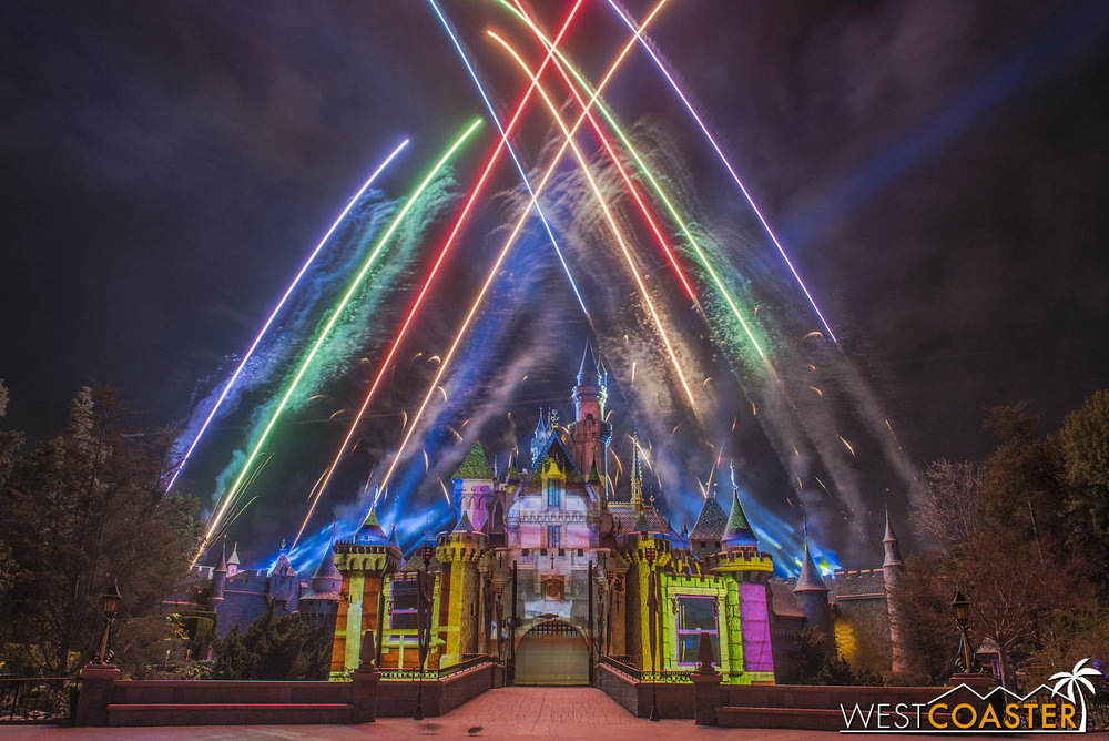 Together Forever is the new fireworks show at Disneyland Park.