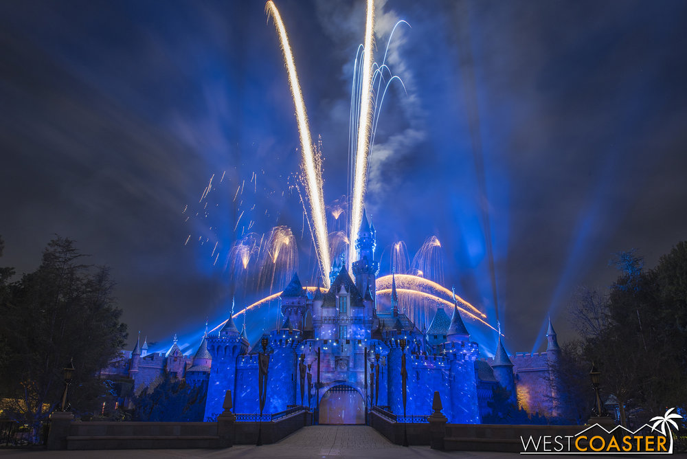 """The """"rocket"""" blasting off from the castle is a nice touch."""