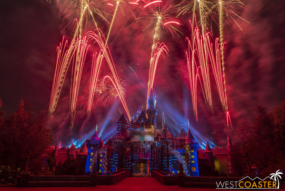 That might work for some audience members, but it's really a shallow method of designing a Disney fireworks show.