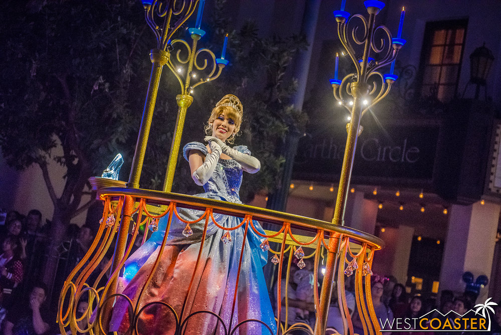 And Cinderella, looking lovely as always.