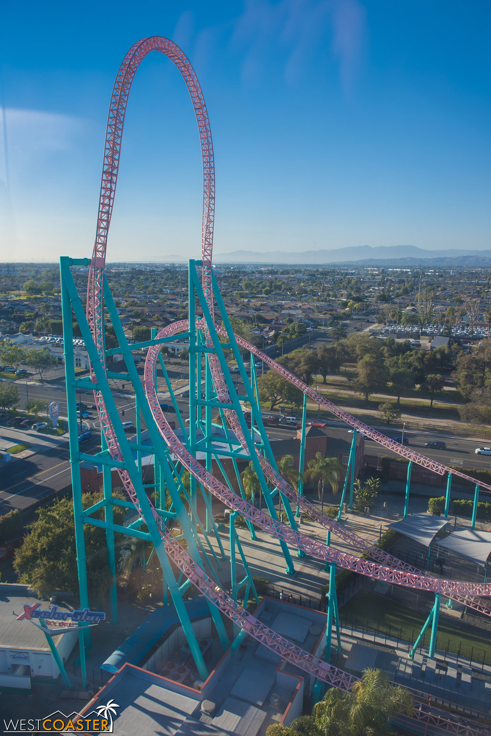 Check out the coaster from high above the park!