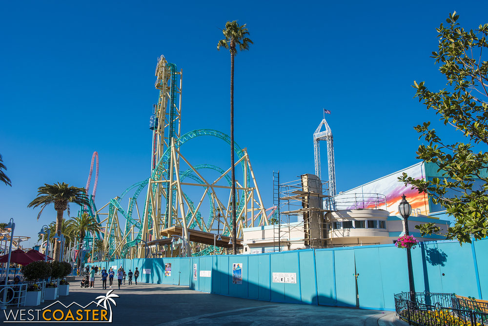 It's needed as the park heads down its home stretch finishing up HangTime, to tie the existing pavement into the new flatwork exiting the ride and souvenir shop.