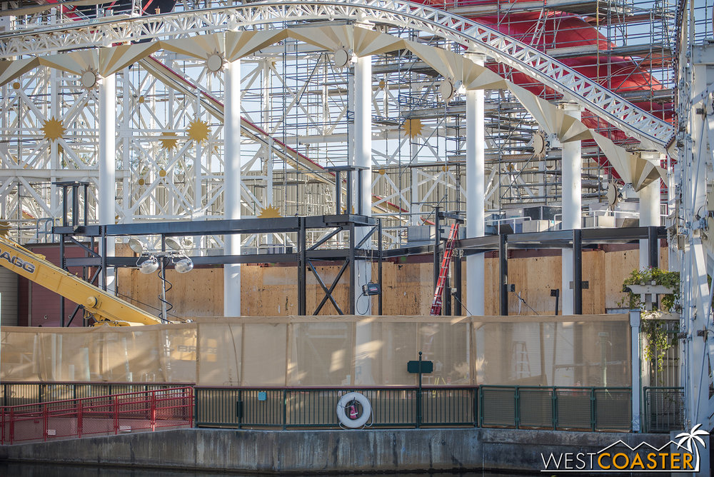 They're adding new steel structure as part of the facade enhancements.