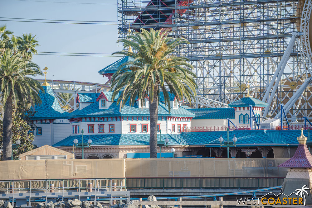 The roller coaster was actually testing earlier last week too!