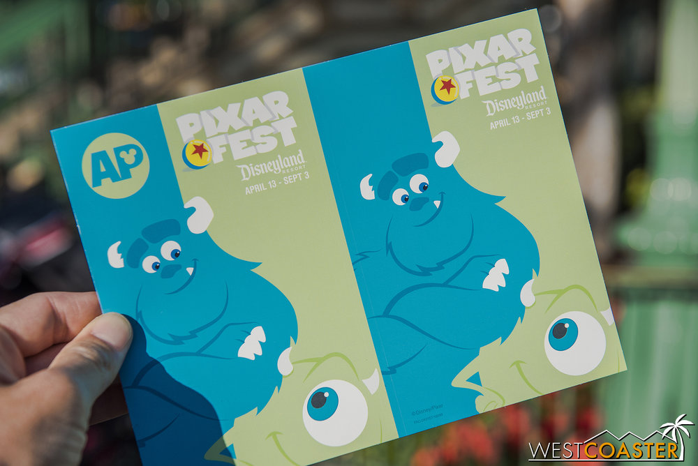 A new decal for Annual Passholders was unveiled last Friday for Pixar Fest.  The decal changes every two weeks throughout the summer.
