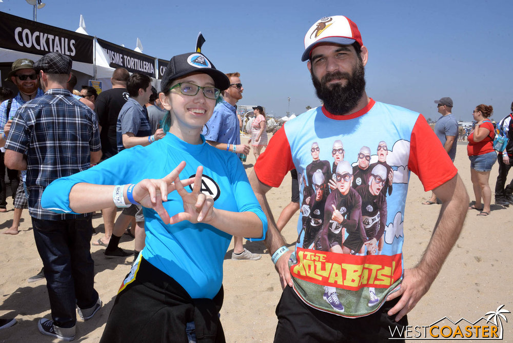 These Aquabats fans were pretty stoked for the Saturday line-up.