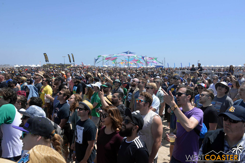 Thousands of people came throughout both days of the weekend to Back to the Beach Festival.