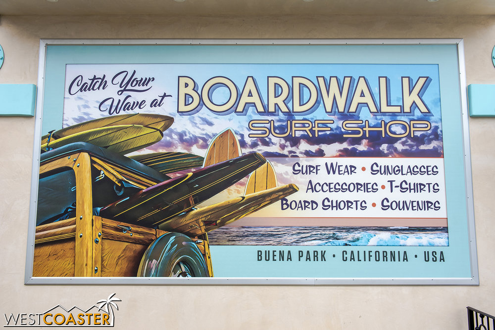 That's a great poster mural the park has painted.  Props to the Knott's paint and carpentry crew!